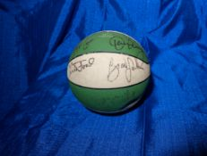 "Spalding Celtics Autographed Basketball Signed By ""Kevin McHale, Jon Paxon, Danny Ainge, Chris Ford,"