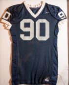 "Penn State Football Jersey Framed Cracked Cover 33""x 40"""