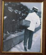 "Newspaper Vendor Framed 9""x11"""