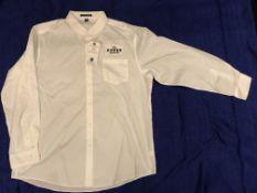 The Fours Boston Black Block Letters Button Down Shirt XX-Large