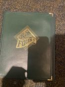 Green Tri Fold Vintage Fours Menu