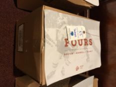 Sealed case of The Fours Paper Placemats