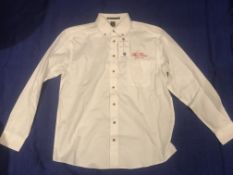 The Fours Boston Red Script Button Down Shirt Large