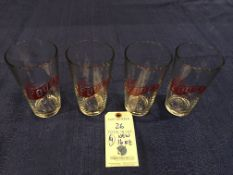 (4) New 16oz The Fours Boston Beer Glasses