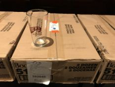 Sealed Case of 24 New 16oz The Fours Boston Beer Glasses