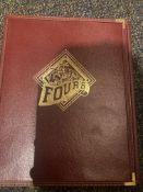 Red Tri Fold Vintage Fours Menu