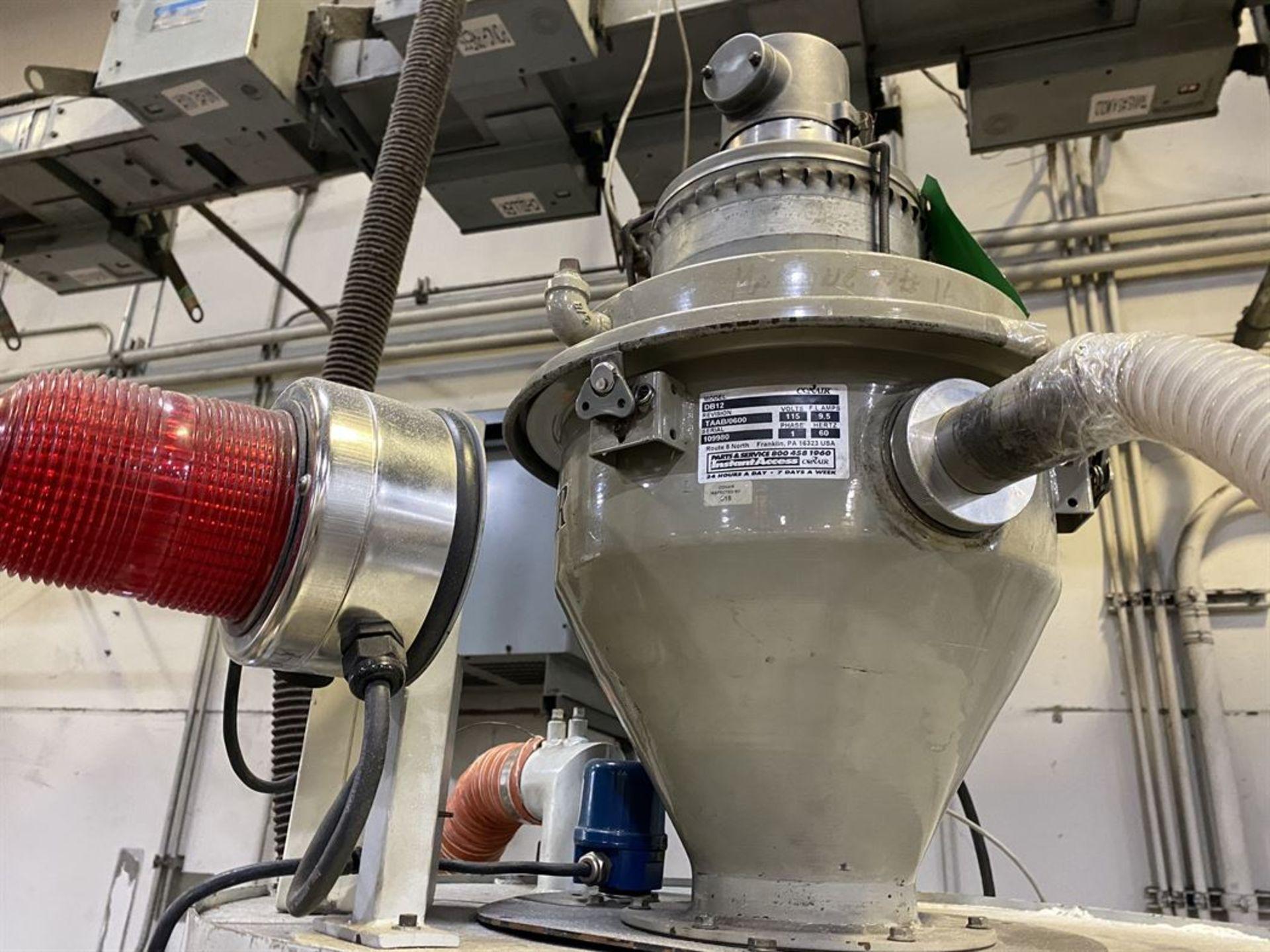 Lot 217 - Conair Franklin DBAA04S030000 Hopper Dryer System, s/n D51082, Cincinnati Milacron Hopper, Conair