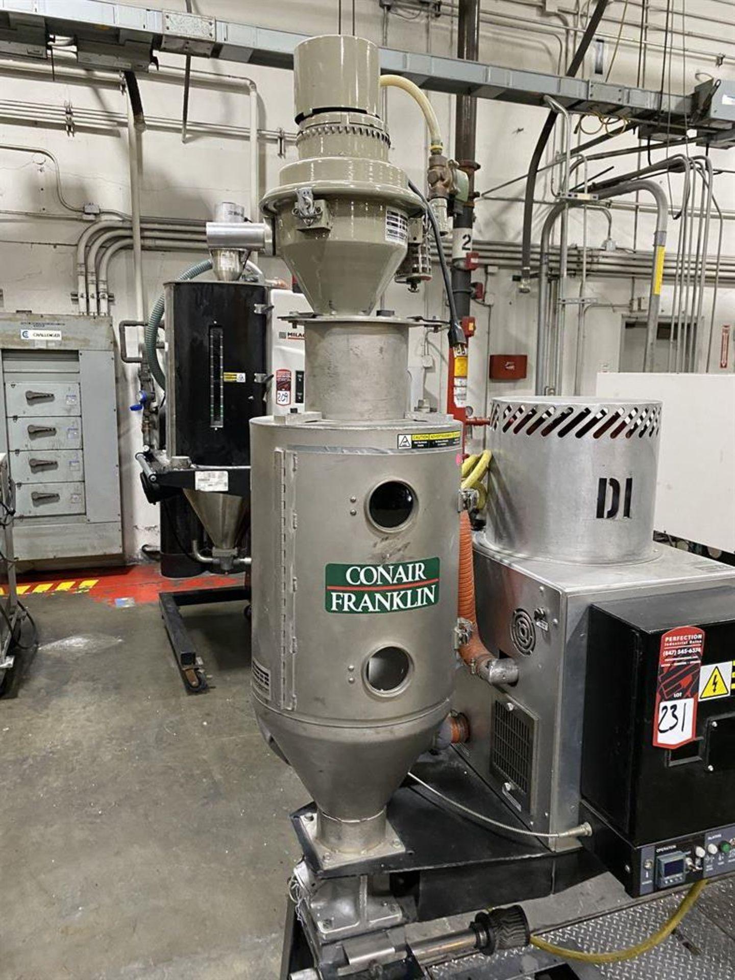 Lot 231 - Conair Franklin Hopper Dryer System Comprising SC-15 Dryer, s/n 8743, CH14U-2 Hopper, and ML8 Vacuum