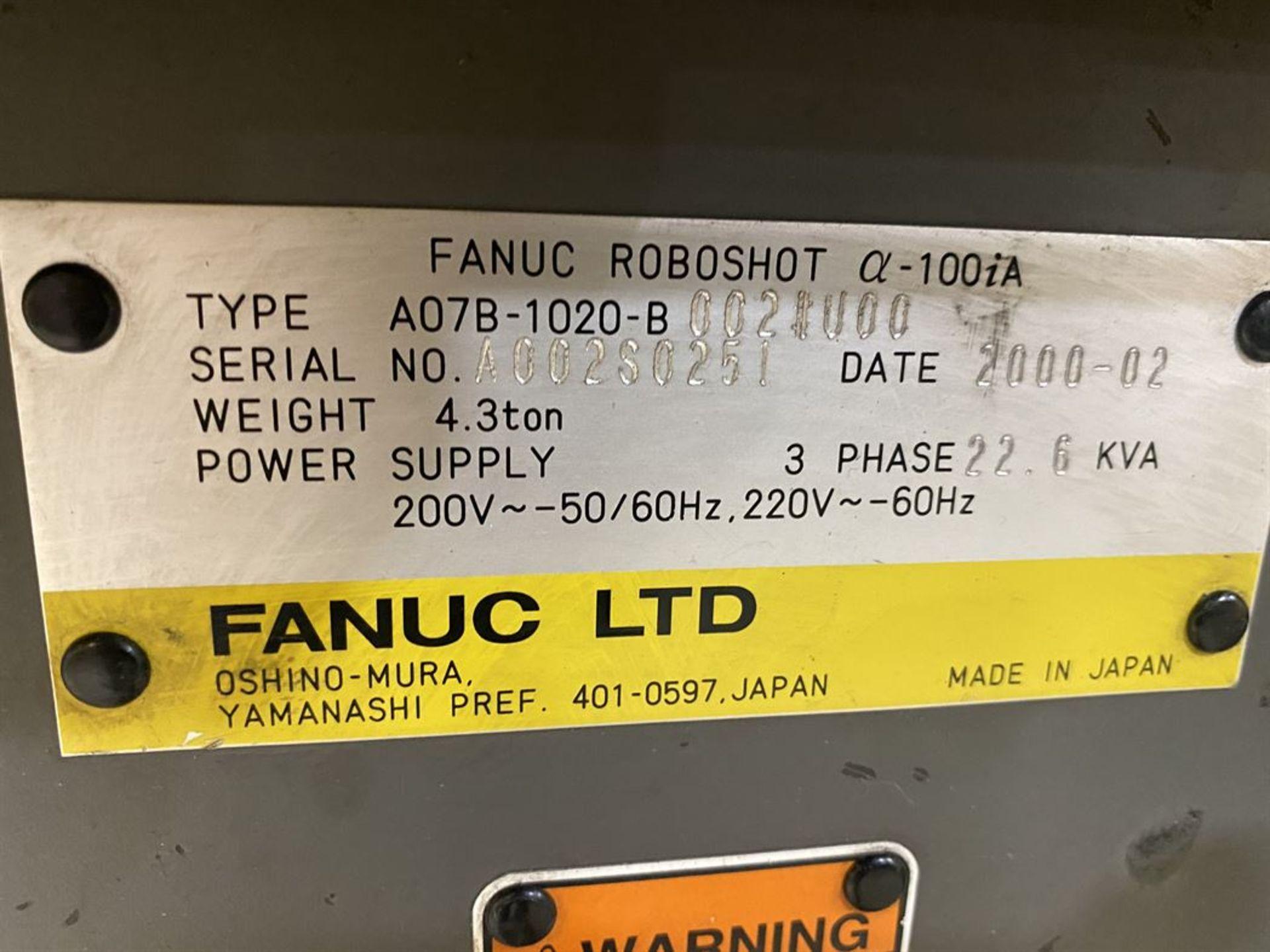 Lot 192 - 2000 CINCINNATI MILACRON FANUC RoboShot 110i-97 110 Ton Electric Injection Molder, s/n 4164A02/99-