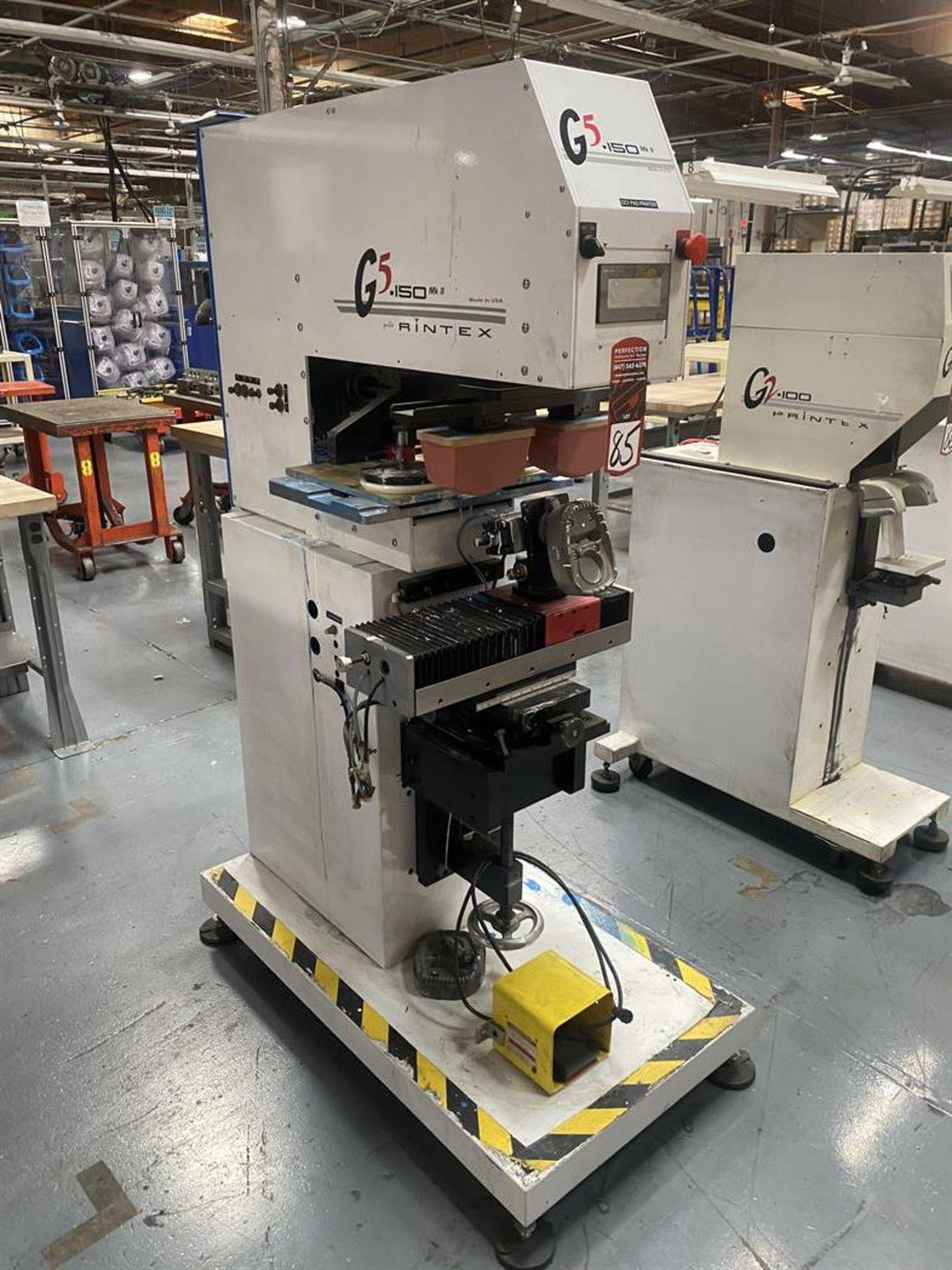 Lot 85 - Printex G5-150 MK II Multi-Function Pad Printing Machine, s/n na, Mitsubishi GOT1000 PLC