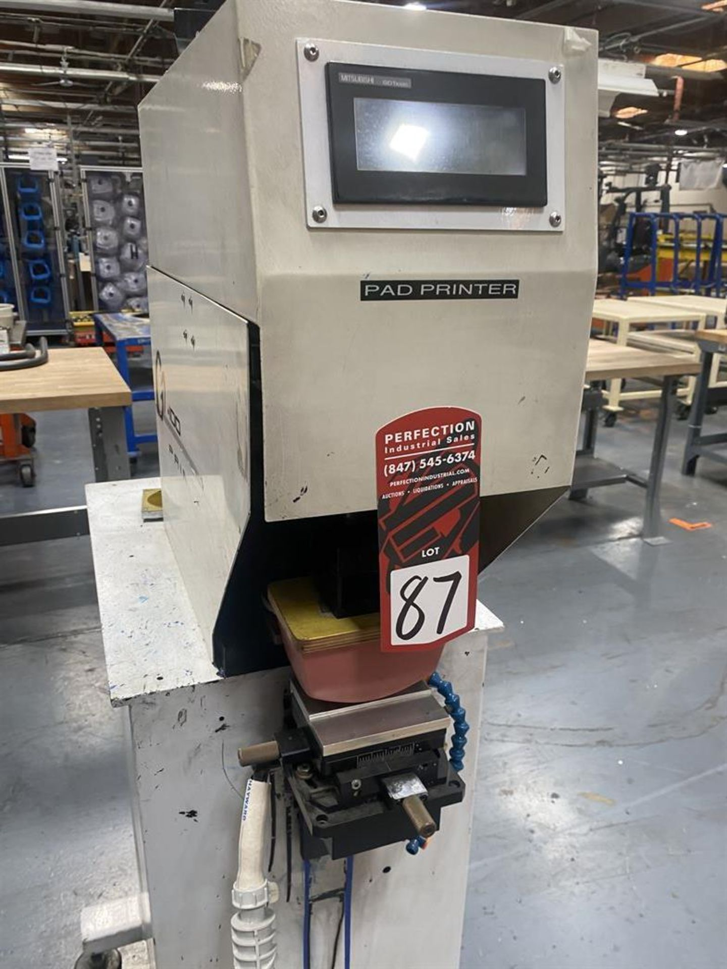 Lot 87 - Printex G2-100 Pad Printing Machine, s/n na, Mitsubishi GOT1000 PLC