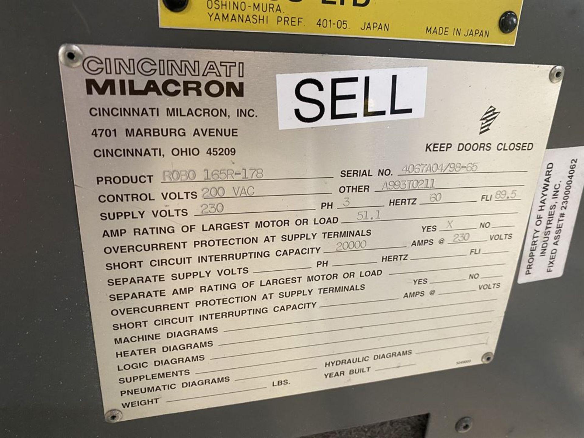 Lot 194 - CINCINNATI MILACRON FANUC RoboShot 165R-178 165 Ton Electric Injection Molders, s/n 4067A04/98-65,