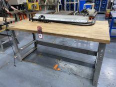 "Wood Top Work Bench w/ Light, 36"" x 72"""