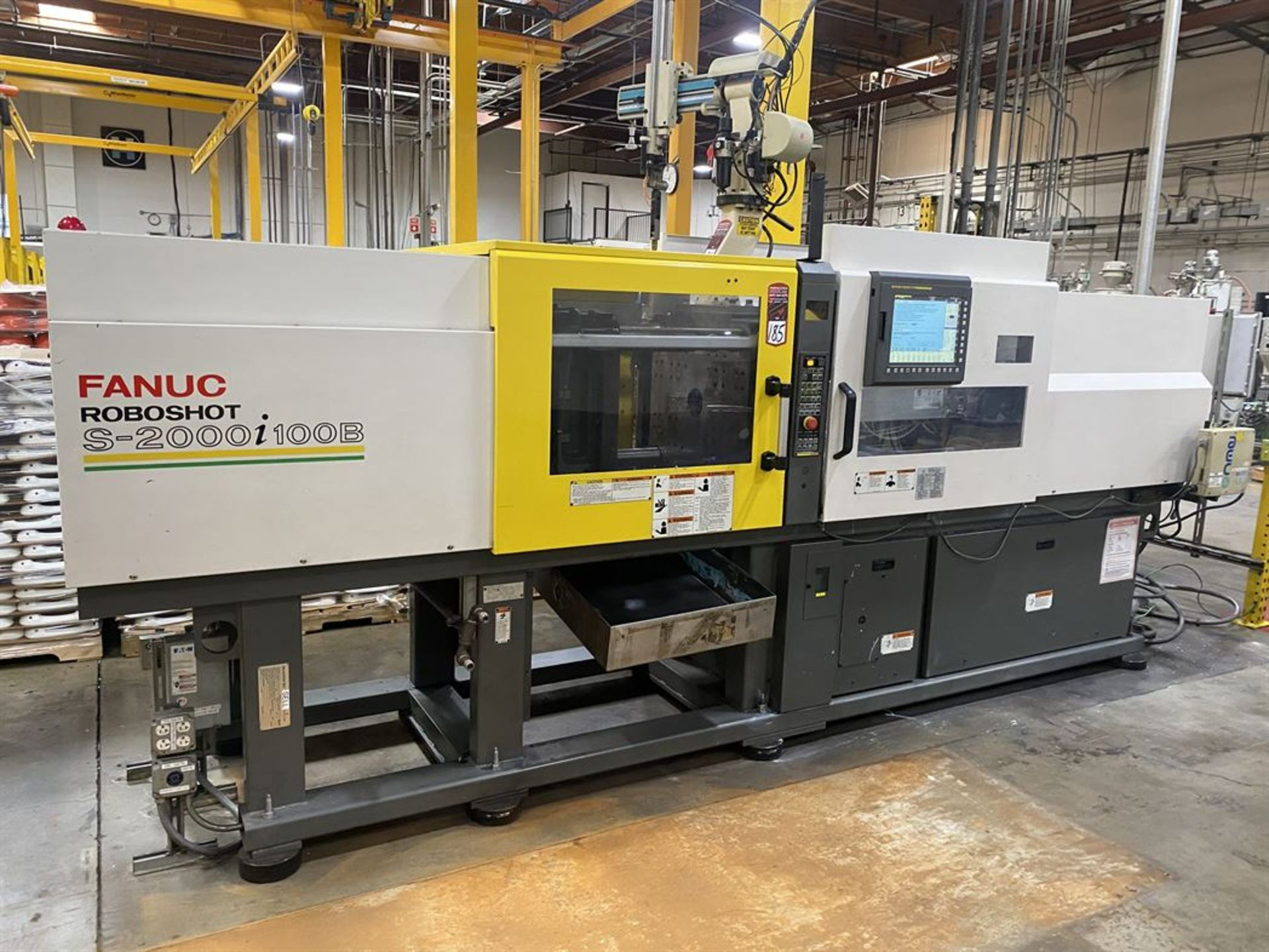 Lot 185 - 2012 CINCINNATI MILACRON FANUC RoboShot S-2000i 110B 110 Ton Electric Injection Molder, s/n