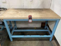 "Wood Top Work Bench, 30"" x 60"""