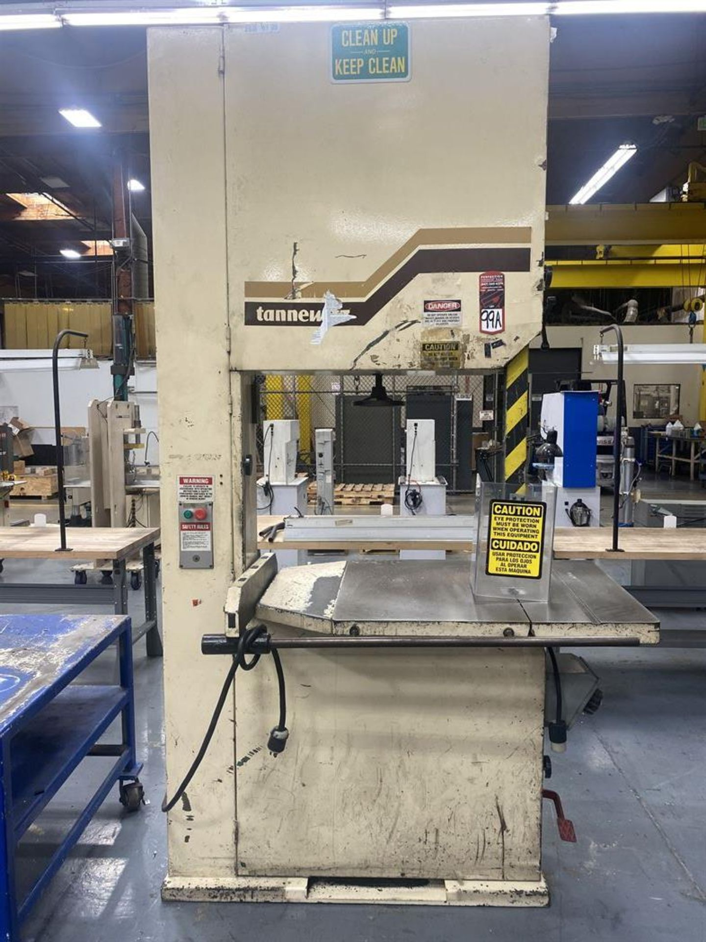 """Lot 99A - Tannewitz 36"""" Vertical Bandsaw, s/n 03244 , 31.5"""" x 38.5"""" Table, 36"""" Throat"""