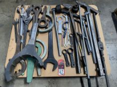 Lot of Assorted Breaker Bars, Spanner Wrenches, Crescent Wrenches, and T-Wrenches