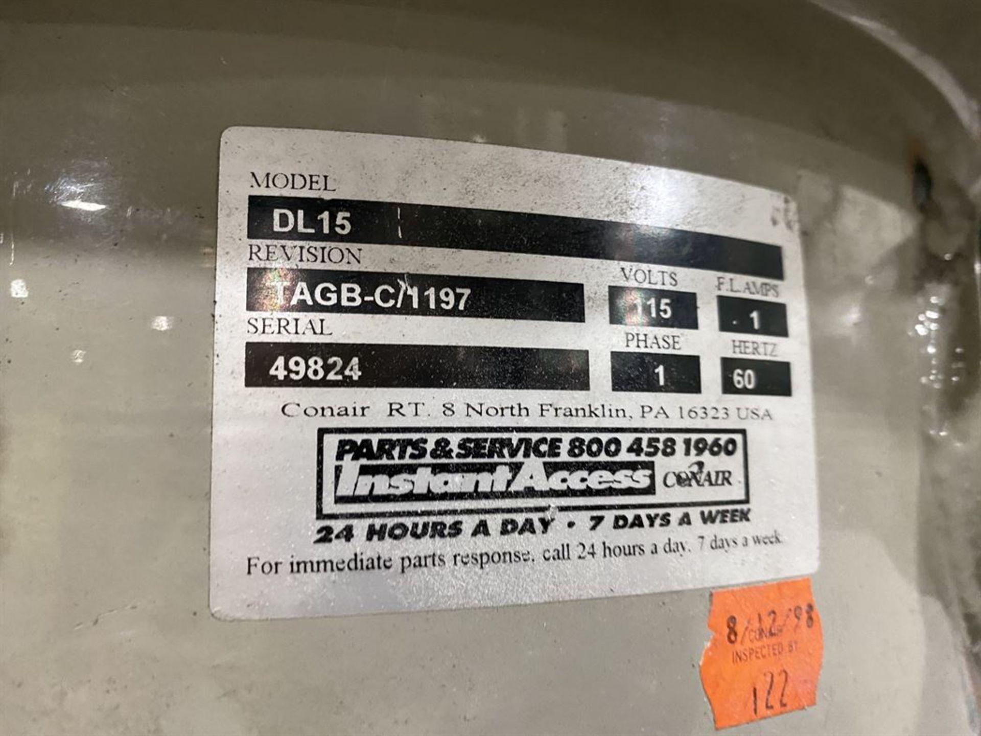 Lot 232 - Conair Franklin Hopper Loader System w/ DL15 Vacuum Loader, s/n 49824