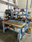 """Wood Top Work Bench w/ Shelves, 30"""" x 60"""" (No Contents)"""
