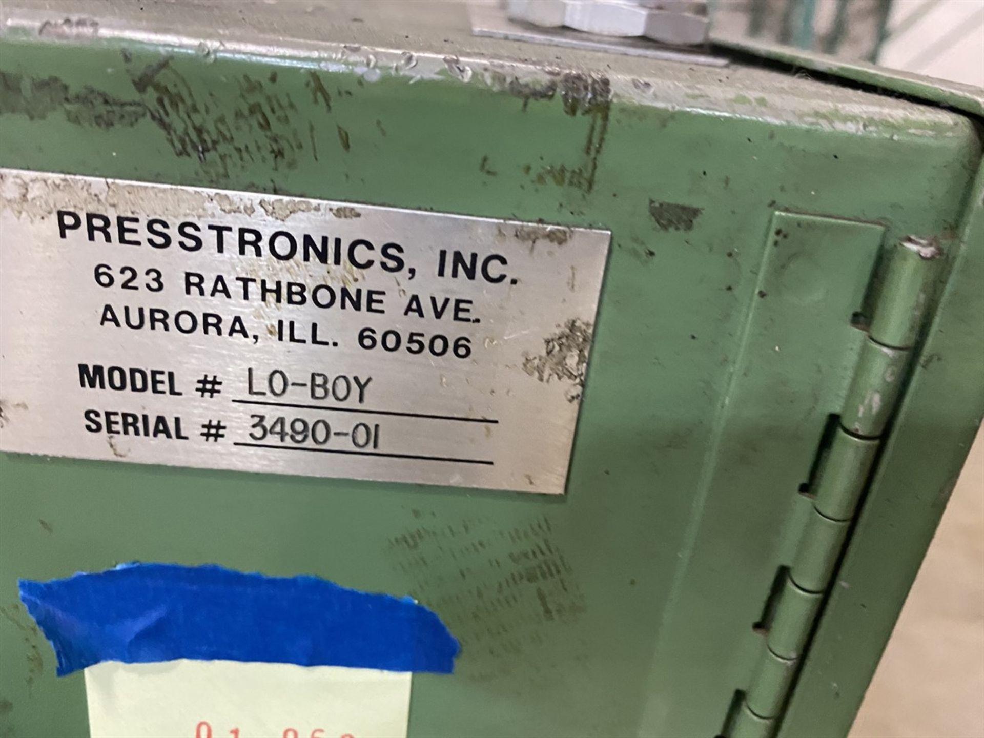 Lot 118 - Presstronics 17 Low-Boy Feeder, s/n 3490-01