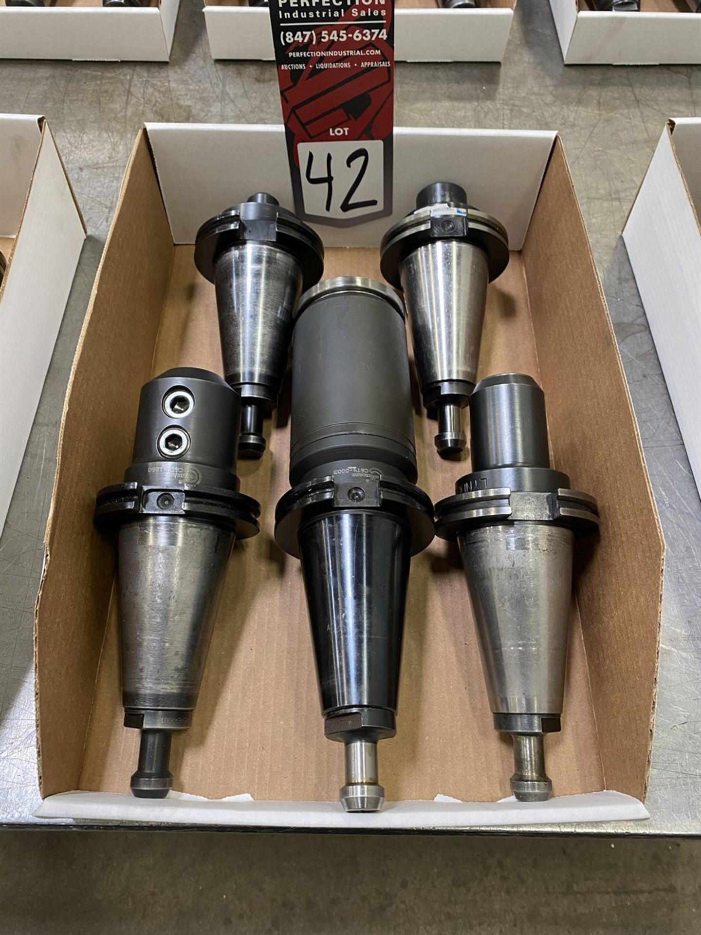 Lot 42 - Lot of (5) CAT 50 Tool Holders