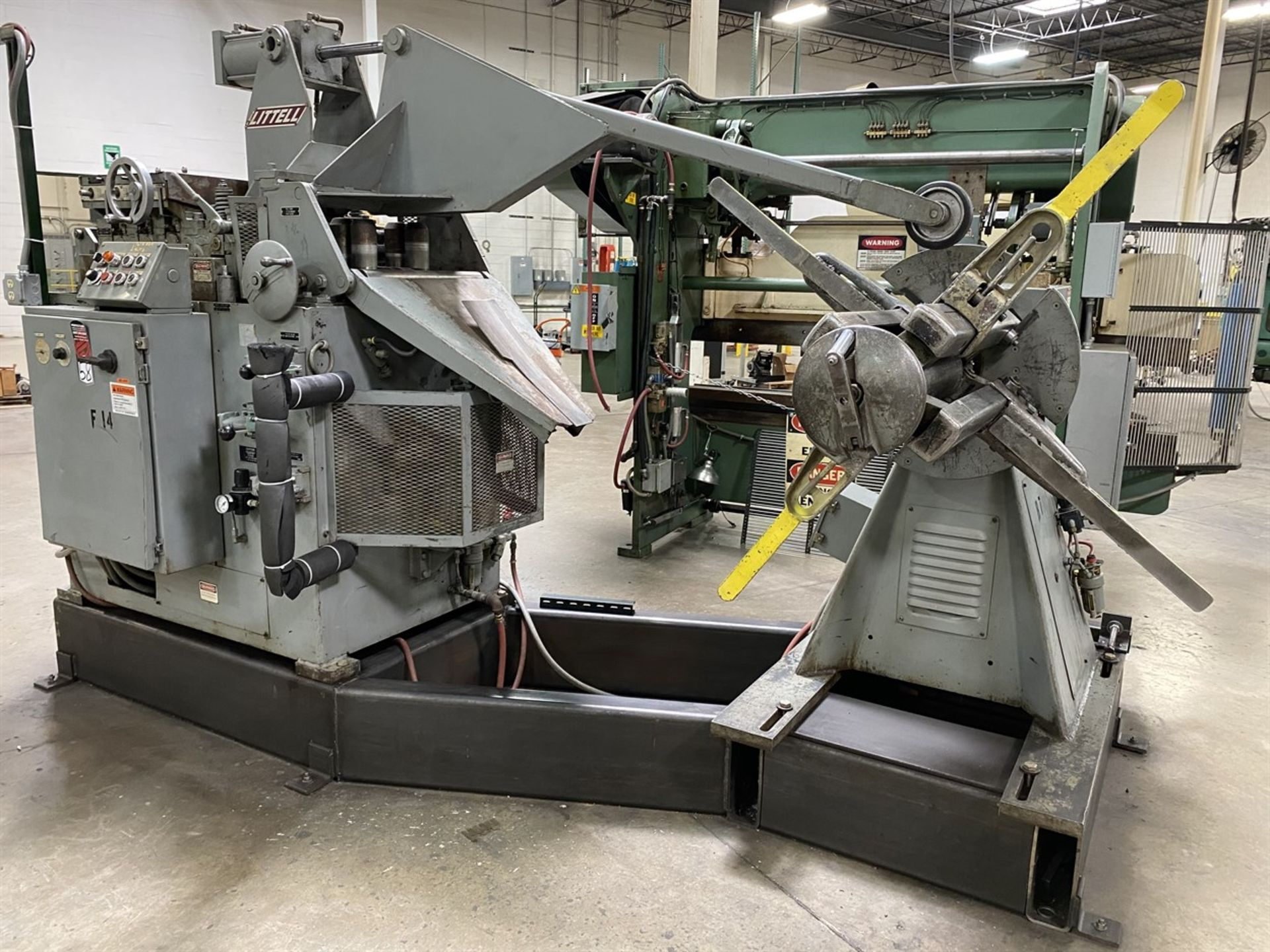 """Lot 58 - Coil Line Comprising LITTELL 40-24 Auto Centering Reel, s/n 89688-89, 4000 Lb. Capacity, 15-20"""""""