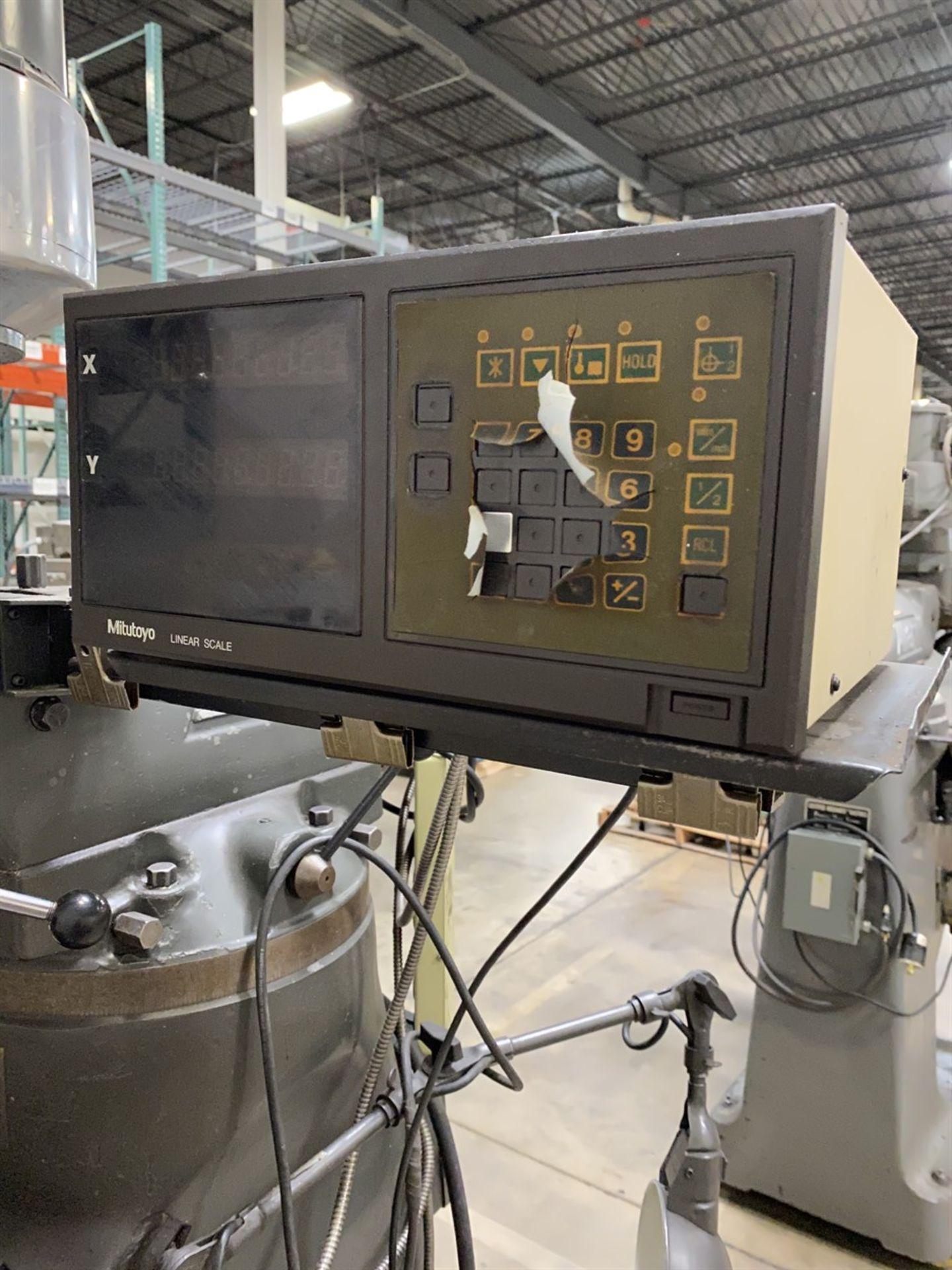 Lot 12 - BRIDGEPORT Series I Milling Machine, s/n 98609, Mitutoyo DRO