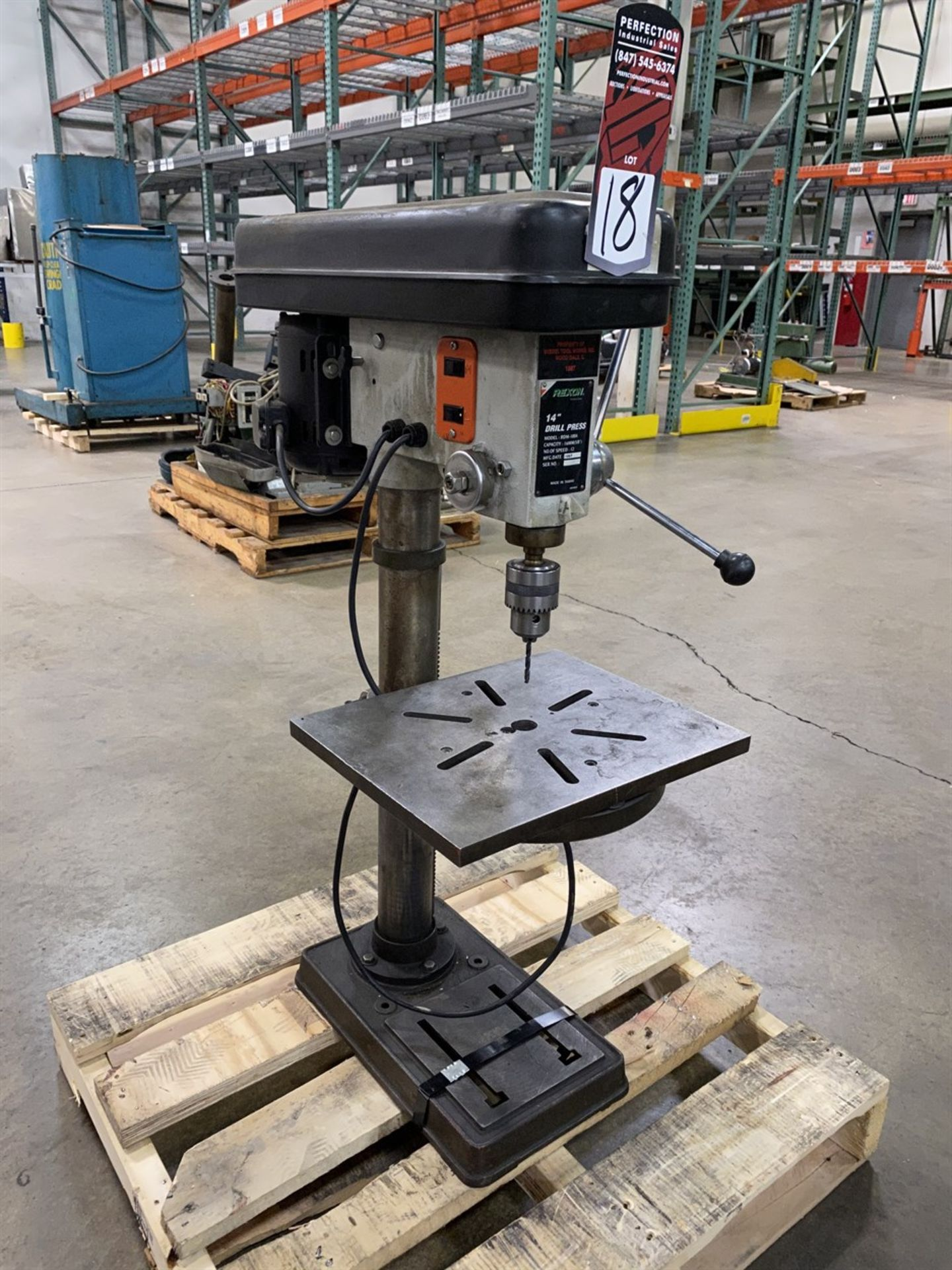"Lot 18 - REXON RDM-100A 14"" Drill Press, s/n 160252"