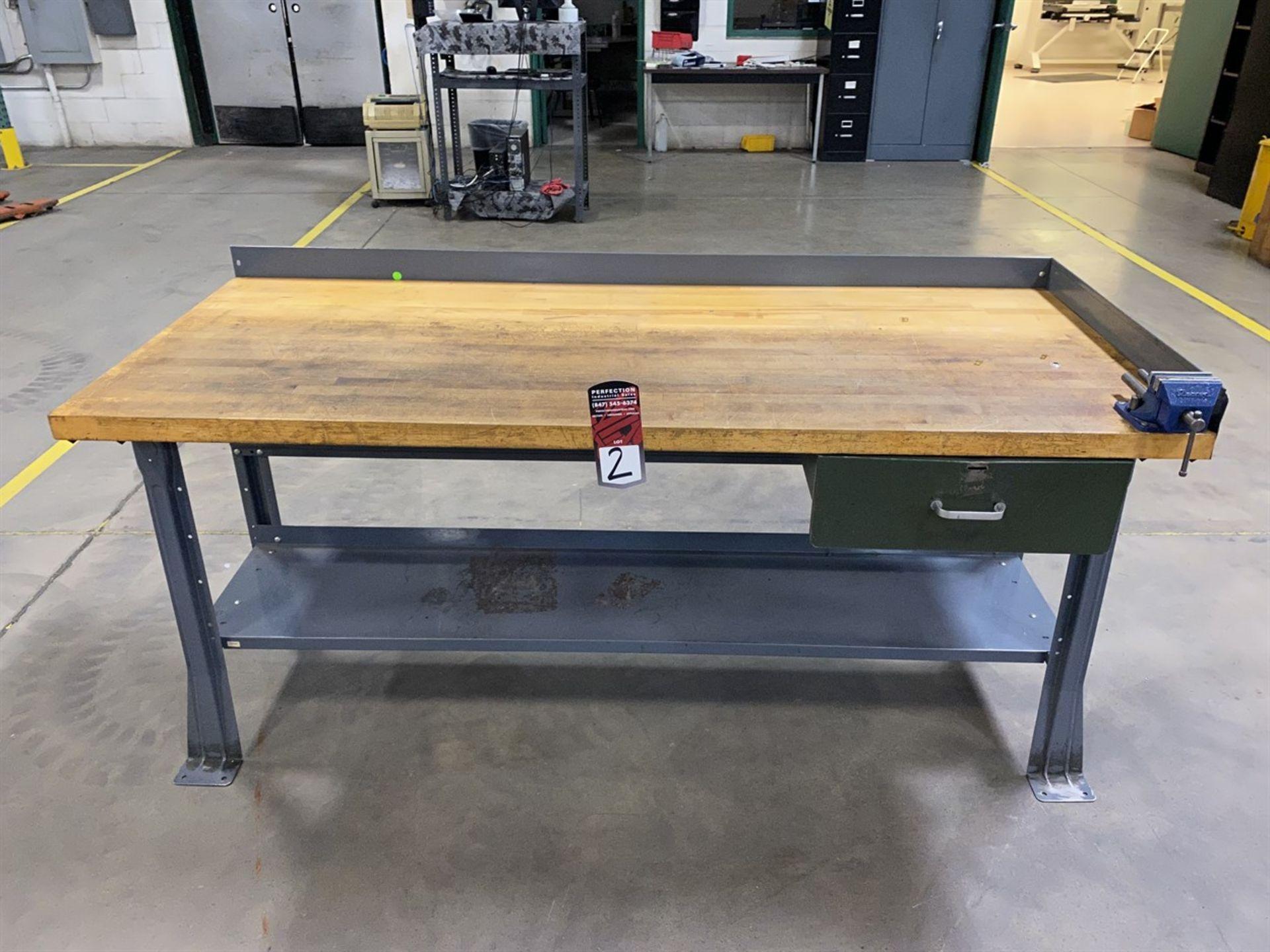 "Lot 2 - Wood Top Work Bench, 30"" x 72"""