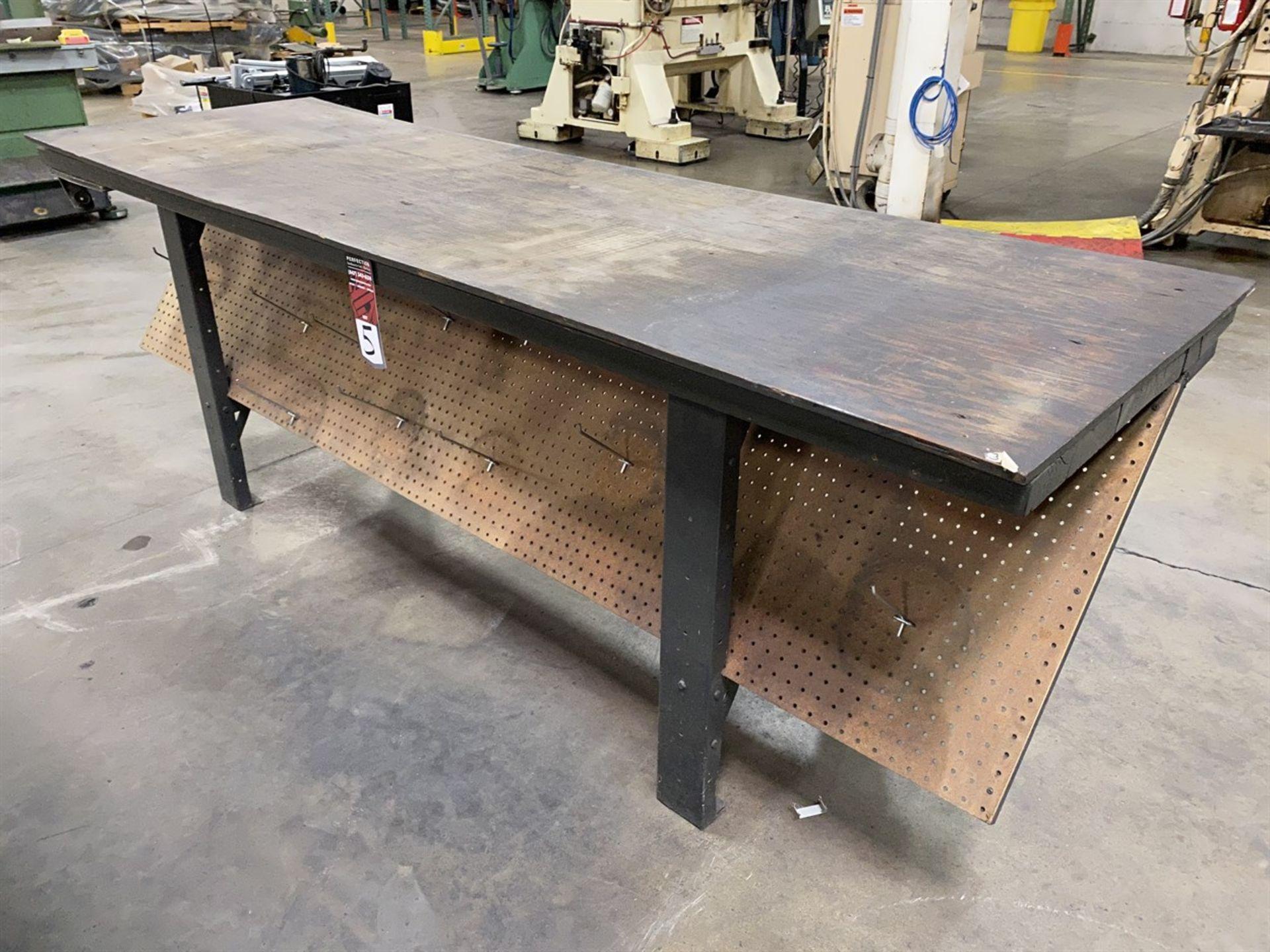 "Lot 5 - Wood Top Work Bench, 30"" x 96"""