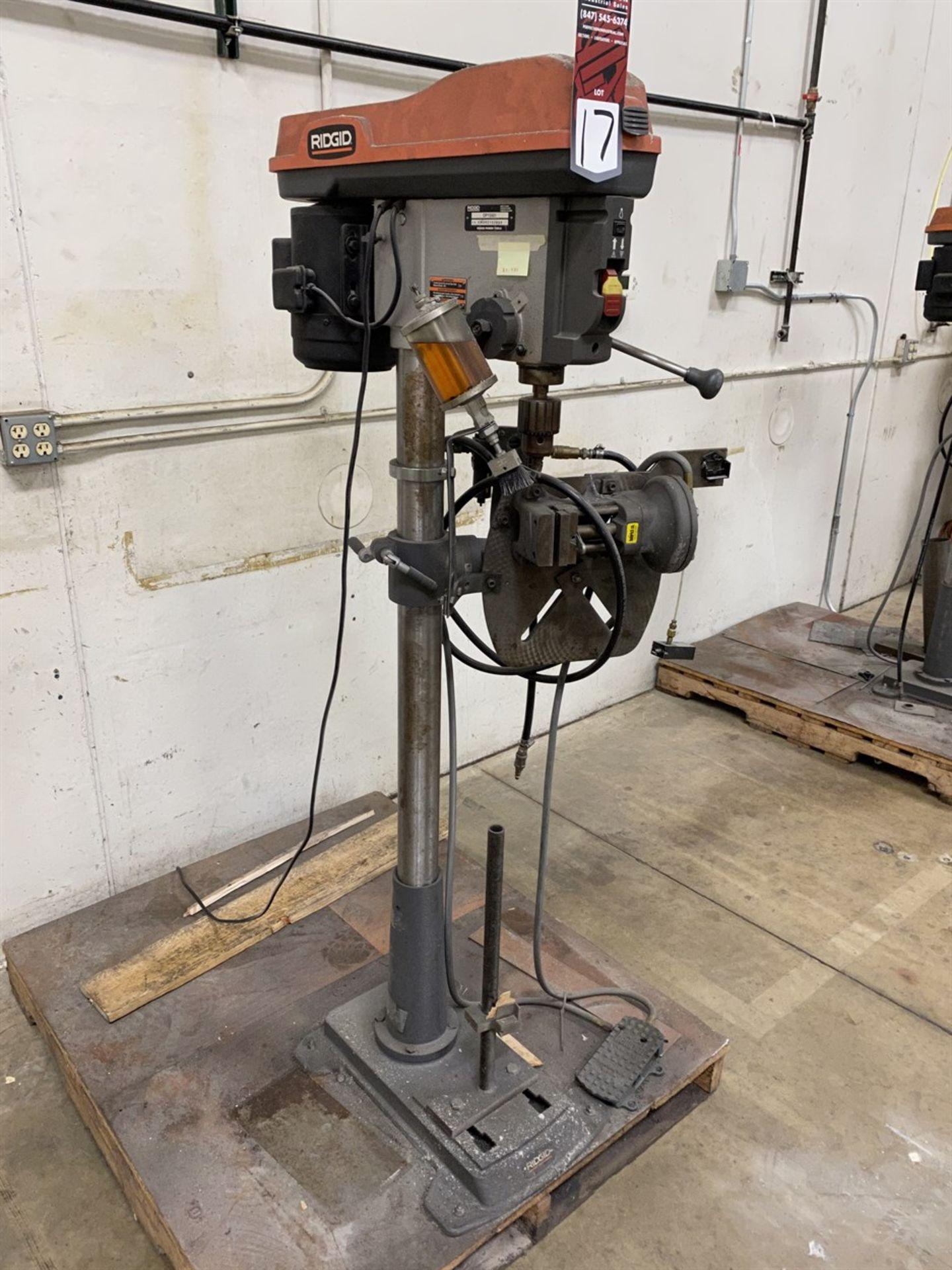 Lot 17 - RIDGID DP15501 Drill Press, s/n AM062152880, w/ Heinrich Pneumatic Vise