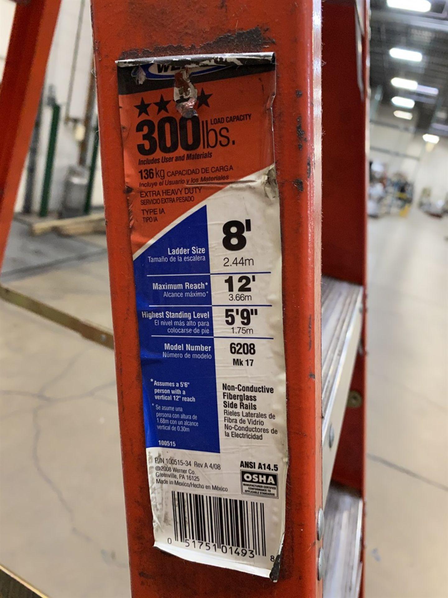 Lot 9 - WERNER 8' Fiberglass Ladder