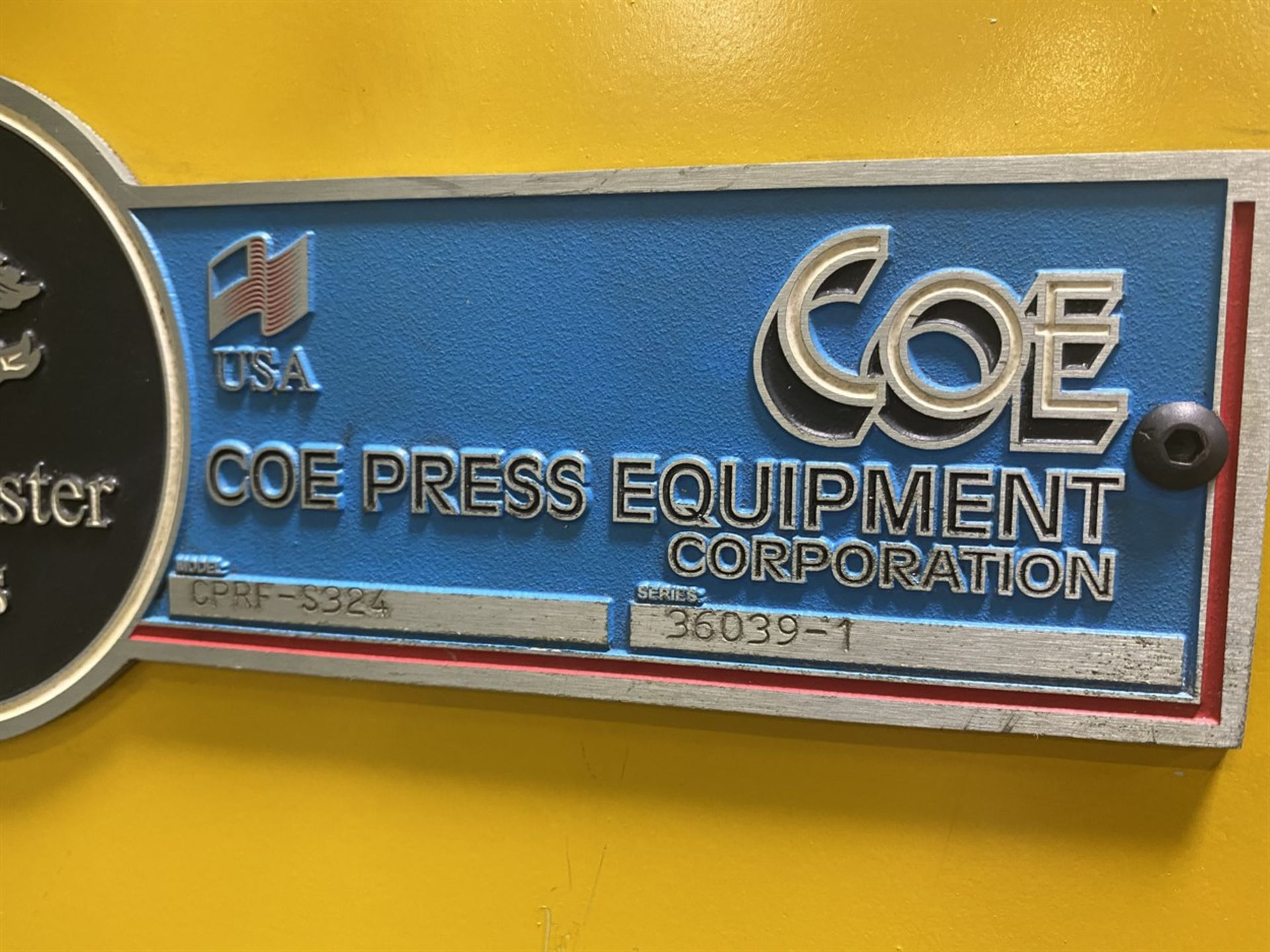 "Lot 55 - COE Coil Line Comprising CPR-PO-10024 Uncoiler w/ Coil Car, s/n 36039-4, 10,000 Lb. Capacity, 24"""