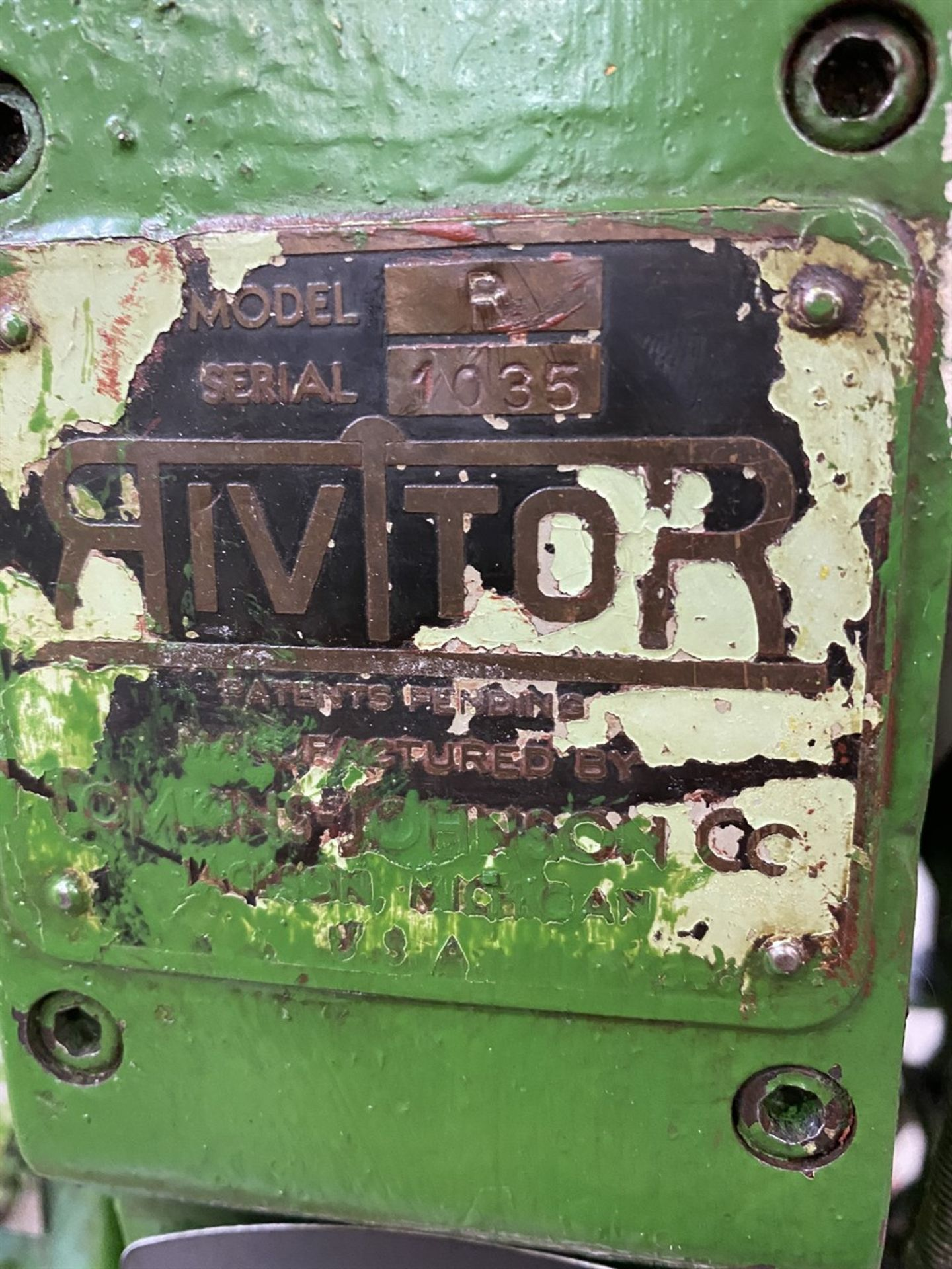 Lot 27 - RIVITOR R Rivet Machine, s/n 1035, w/ Touch-O-Matic 500-2-02 Safety Device