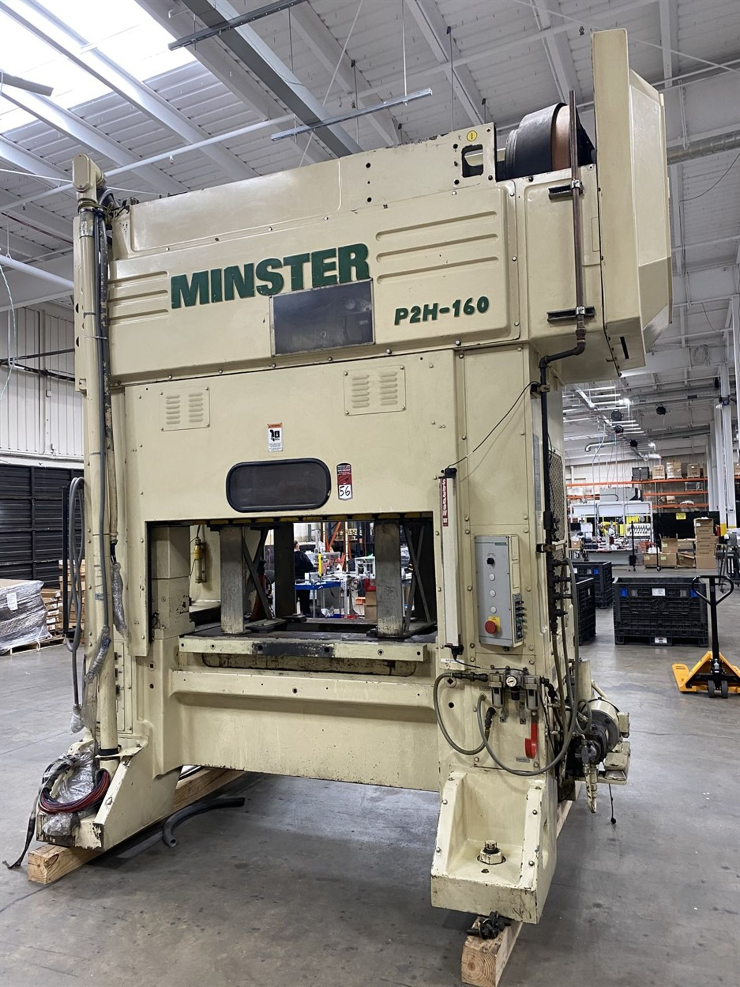 "Lot 56 - 2002 MINSTER P2H-160 Precision Straight Side Press, s/n 30126, 180 Ton Capacity, 63"" x 33.5"" Bed"