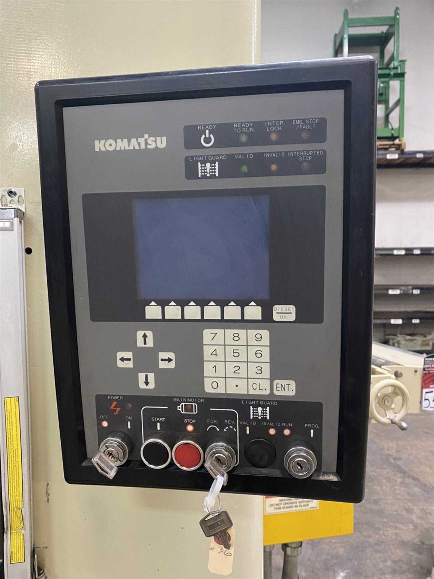 "Lot 54 - 2003 KOMATSU E2W 300 Straight Side Press, s/n 10047, 300 Ton Capacity, 20-40 SPM, 11.81"" Stroke,"