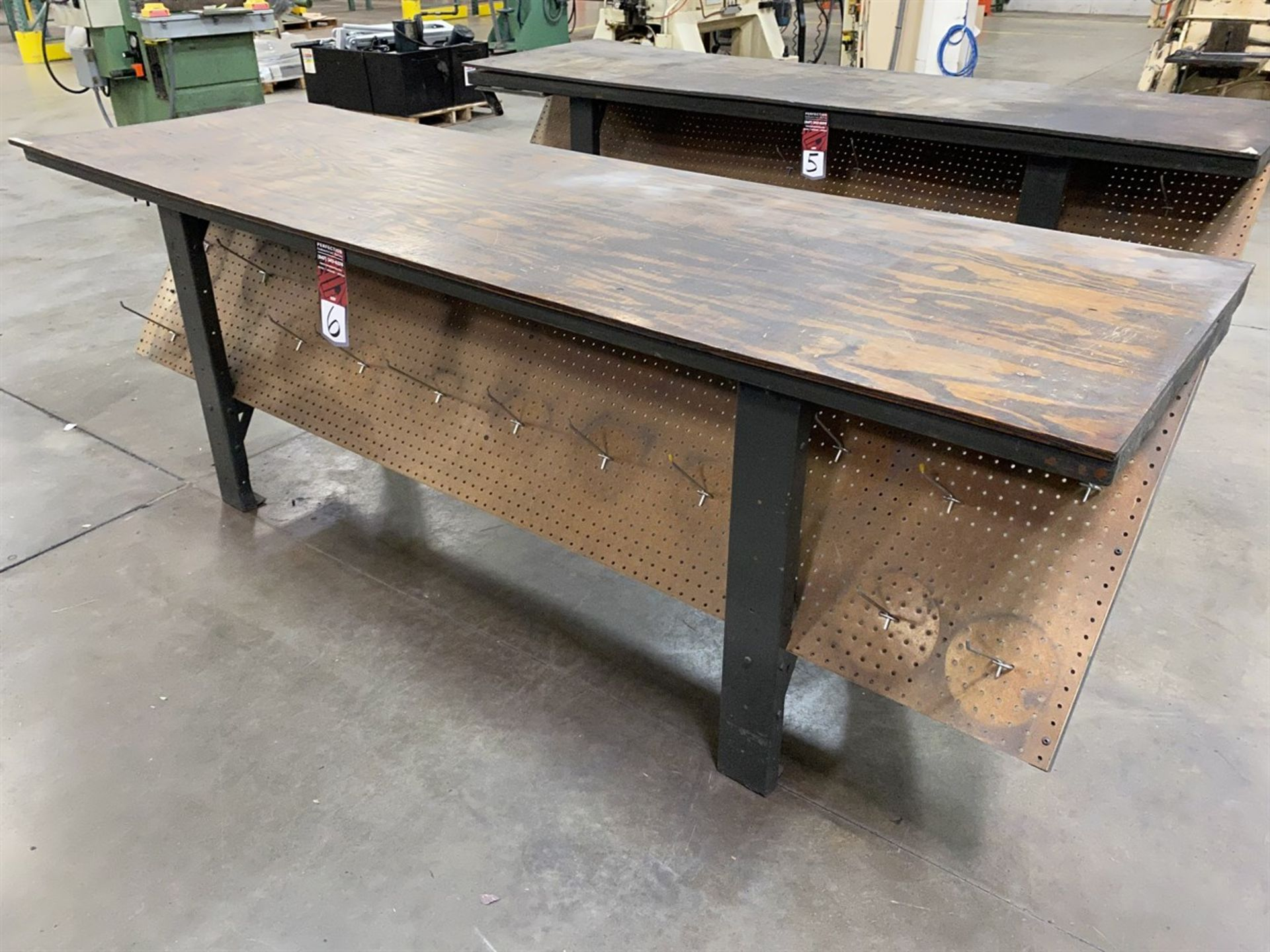 "Lot 6 - Wood Top Work Bench, 30"" x 96"""
