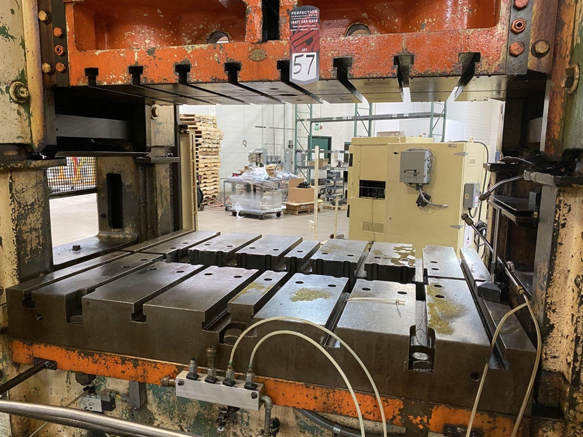 "Lot 57 - MINSTER P2-150-54 Straight Side Press, s/n P2-150-19233, 150 Ton Capacity, 54""x 40"" Bed, 20"" Shut"