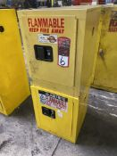 Securall and Justrite Benchtop Flammable Liquids Cabinets