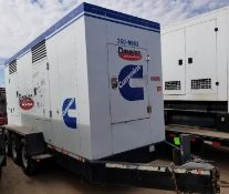 1999 CUMMINS 350 Portable Power Generator, 438 KVA/350 KW, Pintle Hitch Style, 3-Axle, Rear Lug, 7,
