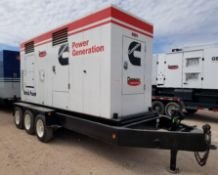 2000 CUMMINS 438 KVA/ 350KW Portable Power Generator, VIN 16MPF1827XD027931, Pintle Hitch Style, 3-