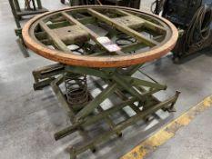 "44"" Dia Scissor/Spring Rotary Pallet Table"