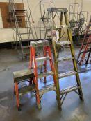 Lot of (3) Fiberglass Step Ladders Comprising 6' Davidson, 4' and 2' Louisville