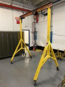 """Thrifty F29-8 Rolling 1-Ton Gantry, 82"""" Between Uprights x 114""""H w/ CM Chain Fall"""