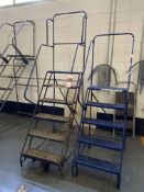 Lot Comprising 6-Step and 5-Step Safety Ladders