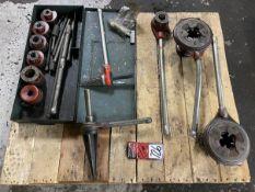 Lot Comprising (2) RIDGID No. 65R Manual Threaders w/ Assorted Dies