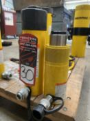 Lot Comprising ENERPAC RC254 25-Ton Hydraulic Jack and ENERPAC RC258 25-Ton Hydraulic Jack