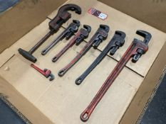 Lot of Assorted Pipe Wrenches and Pipe Cutter