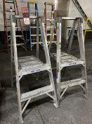 Lot of (2) Werner 2' Aluminum Step Ladders