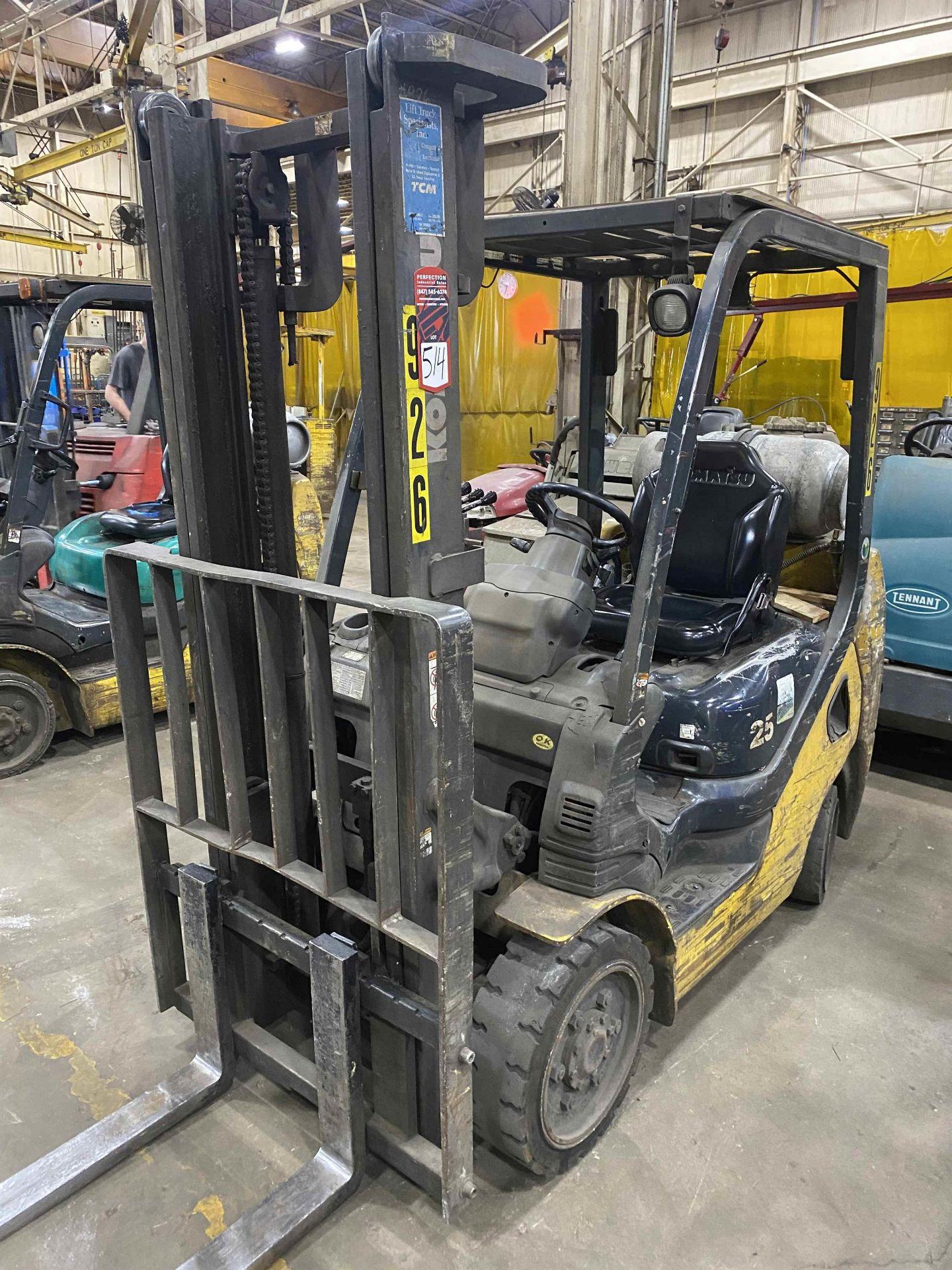 """KOMATSU FG25ST-16 5,000 Lb. LPG Forklift, s/n A234349, Two-Stage Mast, Side Shift, 48"""" Fork - Image 2 of 8"""